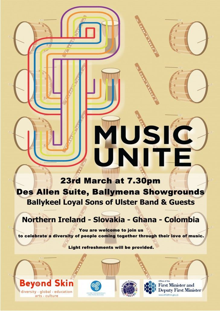 Music Unite 23rd March Flyer