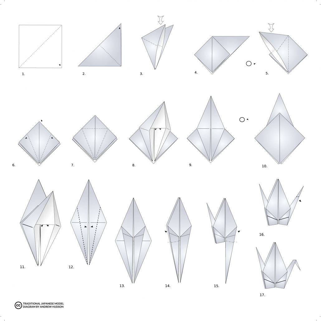 origami crane...nice printable instructions | Origami crane ... | 1030x1030